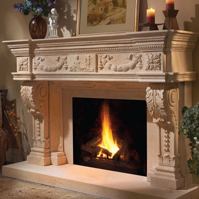 Cast Stone Fireplaces - Click for more info and photos